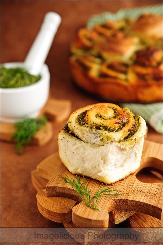 Pesto Pull-Apart Bread
