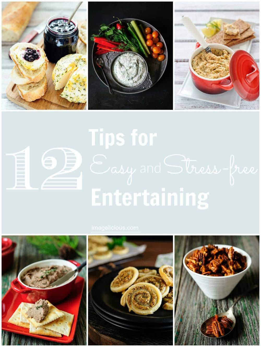 My 12 Tips for Easy and Stress-free Entertaining will help you survive this busy holiday season and actually enjoy it! Tips from how to set the table to prepping the recipes to shortcuts for cooking!