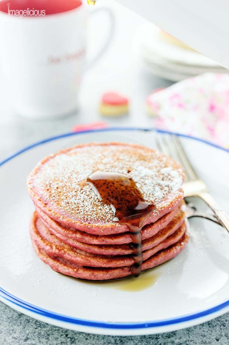 These Beautiful Pink Cinnamon Beet Pancakes Are Full Of Healthy Beets And  Greek Yogurt, Yet