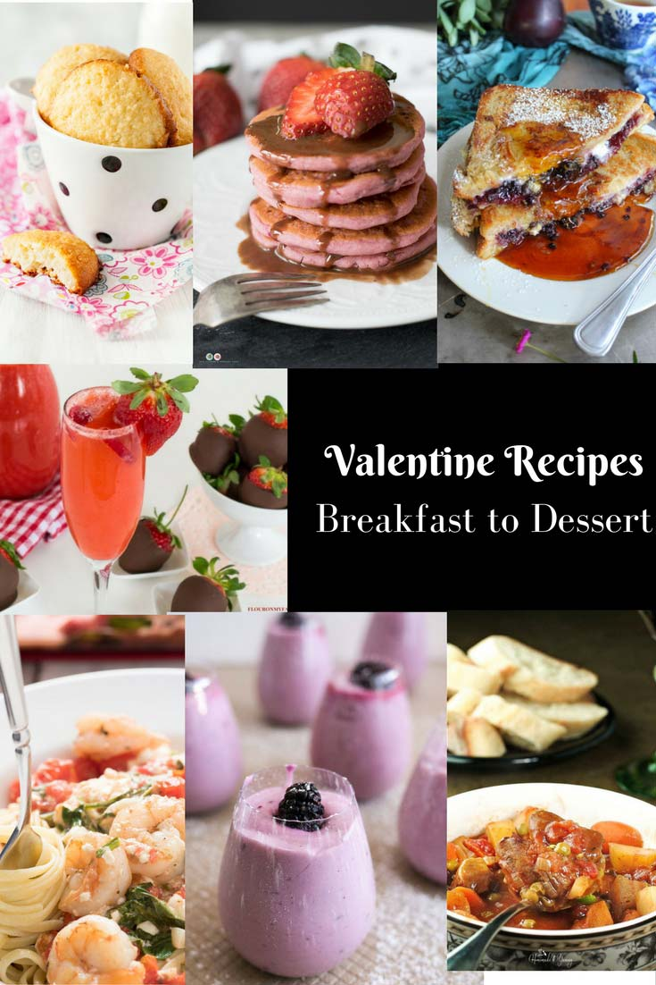 Valentine's Day Recipes - the only recipes you need from Breakfast to Dessert